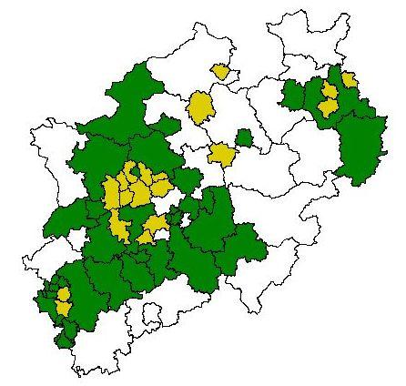 Digitale Bodenbelastungskarten für NRW, Stand 2007