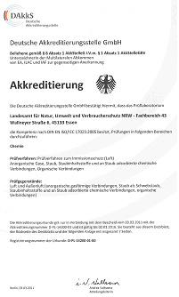 Urkunde des Deutschen Akkreditierungsrates