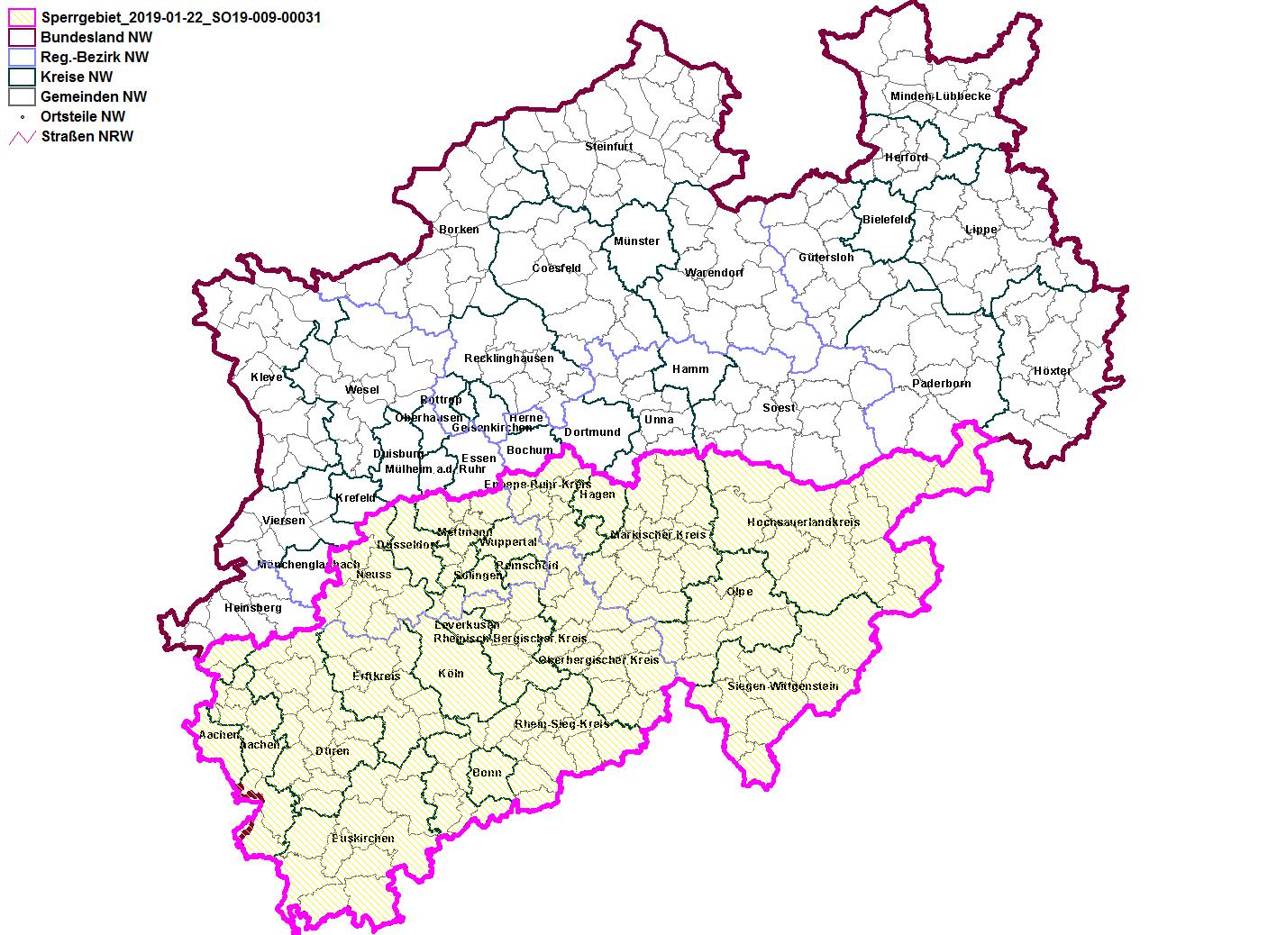 Karte Nrw Plz.Lanuv