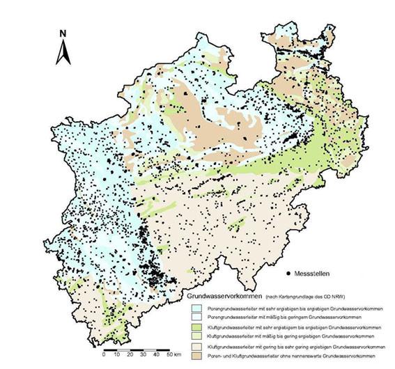 Grundwasserstand Karte Nrw.Lanuv